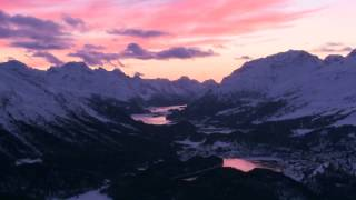 mountain dawn background