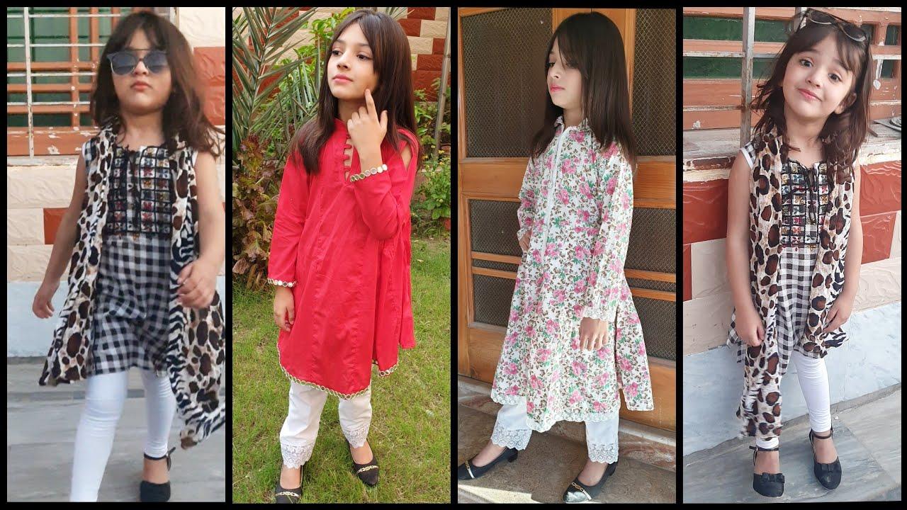 Super Stylish Casual Wear Kurti Dress For 5 To 10 year Girls Tutorial