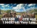 FarCry 5 - GTX 650 vs GTX 460 - 768p - Very Low