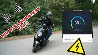 Niu N1S N Series Test Review Dauertest Teil 3 E Roller Elektro Roller E Scooter