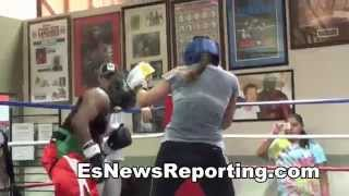 Golden Glove Female vs Pro Male Boxing
