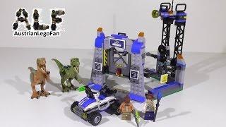 Lego Jurassic World 75920 Raptor Escape / Ausbruch Der Raptoren - Lego Speed Build Review