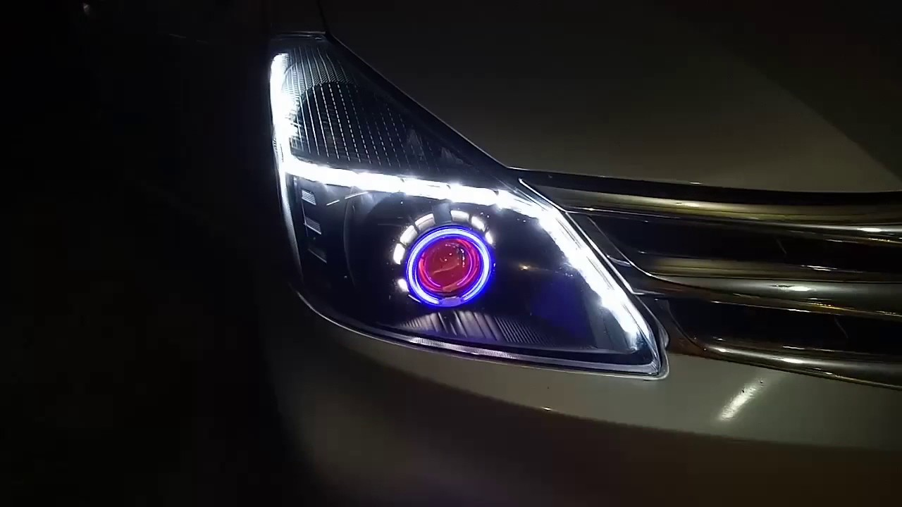 Drl Grand New Avanza Review Toyota All With Double Angel Eye Hid Projector Headlight And Aes Crystal A7