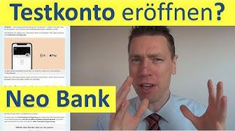 Neobank ► Testkonto eröffnen?