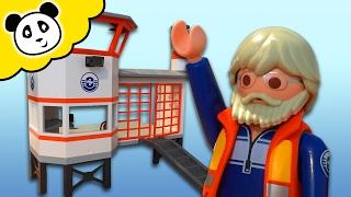 ⭕ PLAYMOBIL POLIZEI 🚨 Küstenwache mit Leuchtturm 🚨 Spielzeug auspacken & spielen - Pandido TV