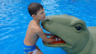 Water park for kids with snakedragon  Funny video for kids
