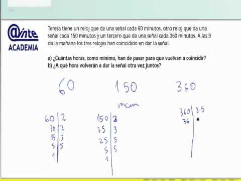 Problema minimo comun multiplo relojes mat 2 eso ainte for Pared de 15 ladrillo comun
