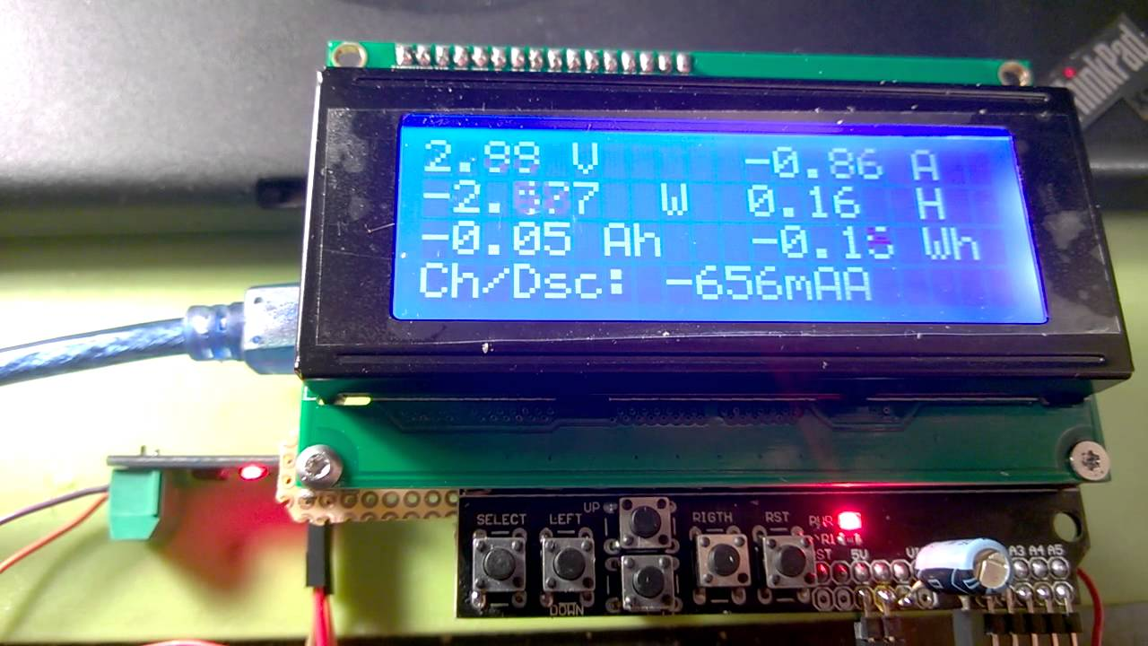 Arduino Energy meter with ADC-712-05T