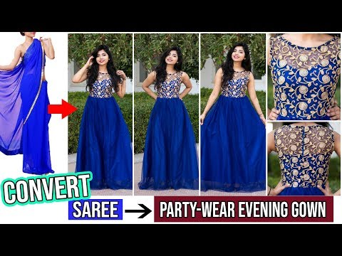 convert-old-saree-into-prom-gown/dress-in-just-15-minutes