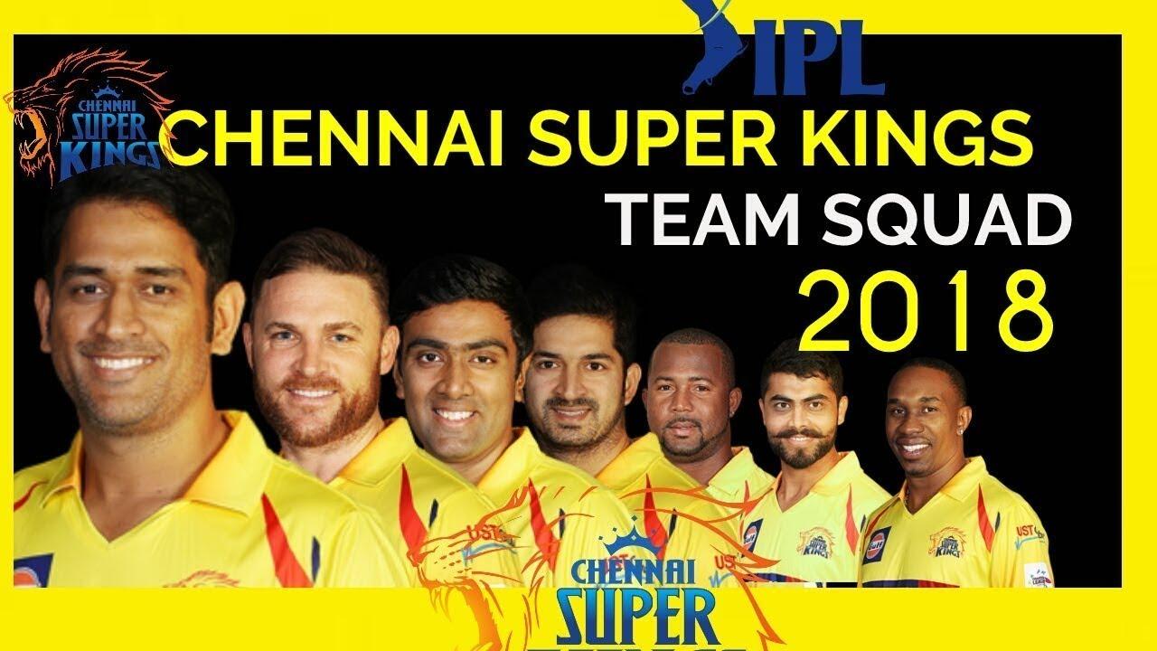 Chennai Super Kings CSK Official Team for IPL 2018 | Dhoni ...  Chennai Super Kings Players