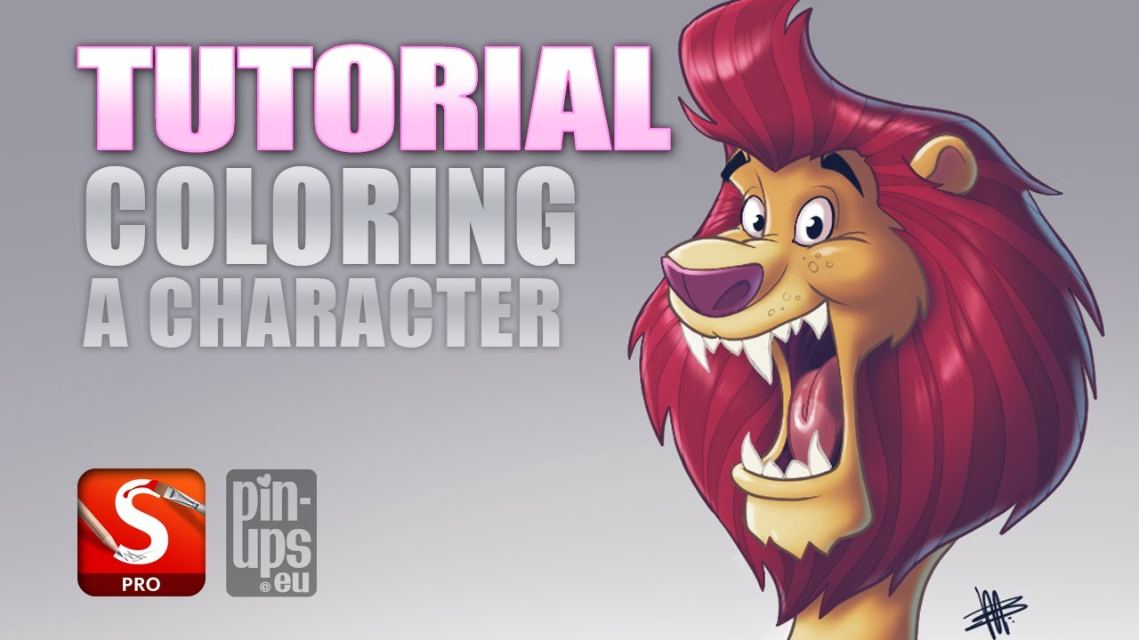 Autodesk Sketchbook Pro Tutorial : Coloring A Character - YouTube