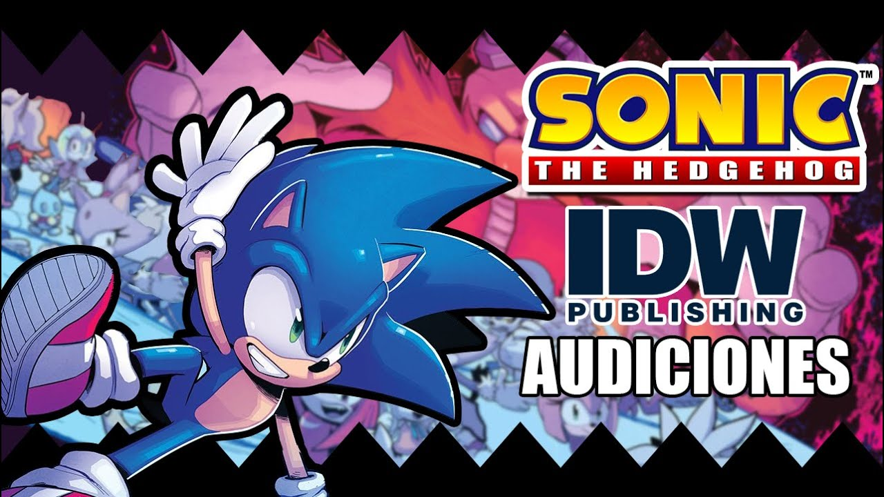 Sonic The Hedgehog IDW AUDICIONES
