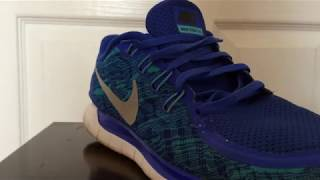 LOOSE LACE NIKE FREE 5.0 RUNNING SHOES