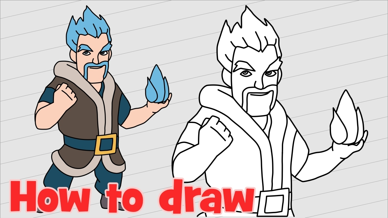How To Draw Ice Wizard Clash Royale Troops
