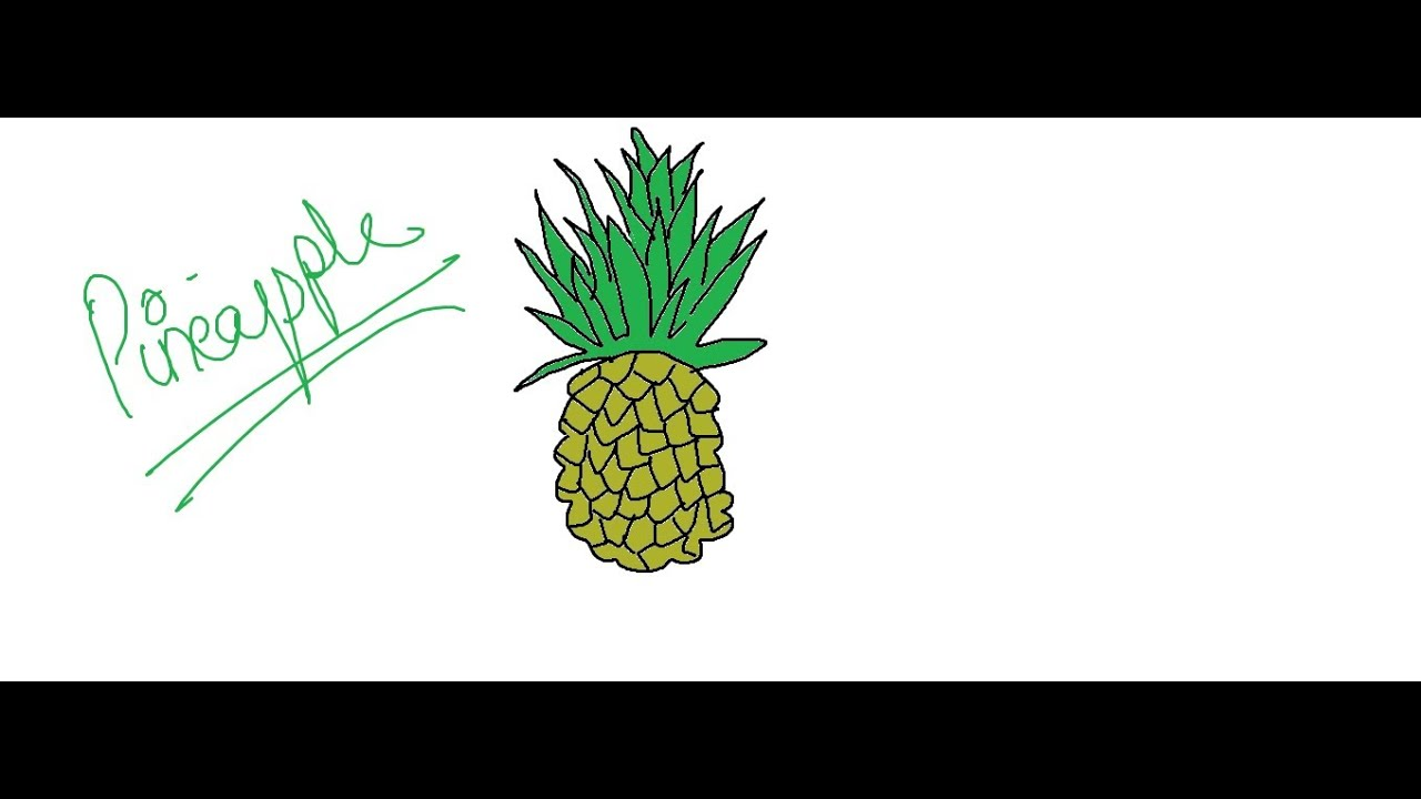 Easy Kids Drawing Lessons:How to Draw a Cartoon Pineapple ...