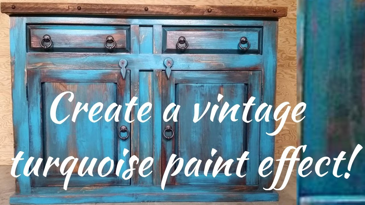 Beau Diy Vintage Turquoise Paint Technique. Rustic Duck Furniture