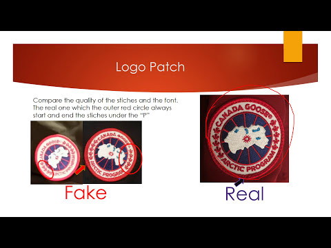 How To Spot Fake Canada Goose Tips Purchase Not From Authorized Dealer