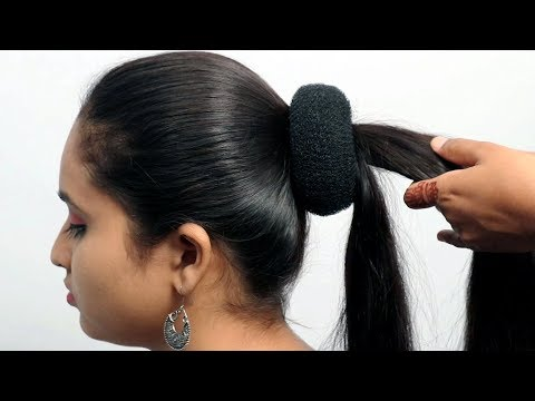 Easy and Beautiful bun hairstyle for wedding/party | Hairstyles for girls | hair style girl 2019 thumbnail