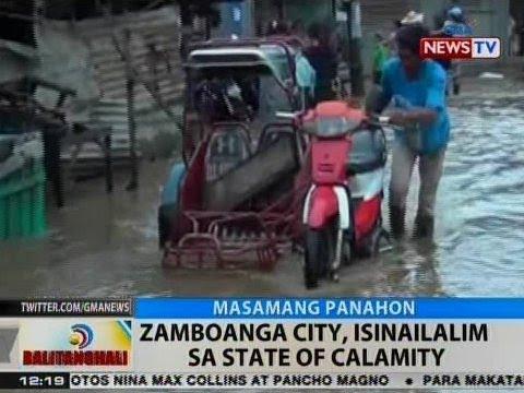 BT: Zamboanga City, isinailalim sa state of calamity