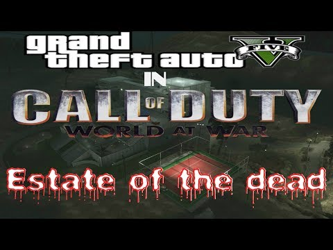 Call of Duty:Zombies Estate of the Dead Mods Maps[WAW]Gameplays Walkthrough Co-op Online Part-1