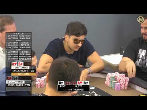 Antonio Esfandiari vs SoFlo Antonio in a Monster Pot! ♠ Live at the Bike!