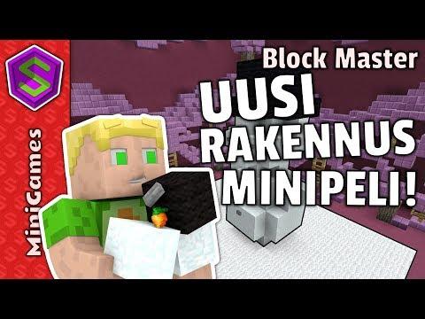 Uusi RAKENNUSPELI SlinkonCraftissä! | Minecraft Minipelit Block Master