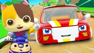 Baby and Race Car | Police Car, Doctor | Learning Vehicles | Nursery Rhymes | Kids Songs | BabyBus