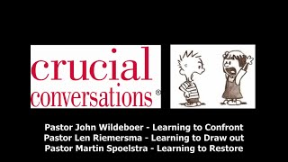 2015-02-01: Crucial Conversations: Learning To Draw Out - Sermon Only