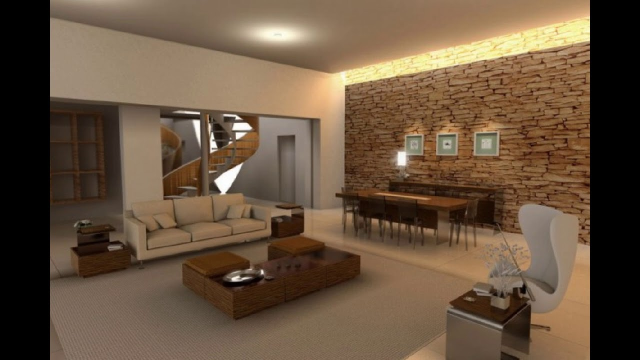 Stone wall in your living room 17 brilliant ideas youtube - Picture wall ideas for living room ...
