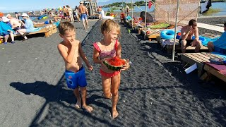 VLOG: Бизнес на пляже / Дети заработали свои первые деньги!