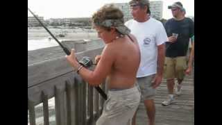 6' BULL SHARK caught off Folly Beach Pier