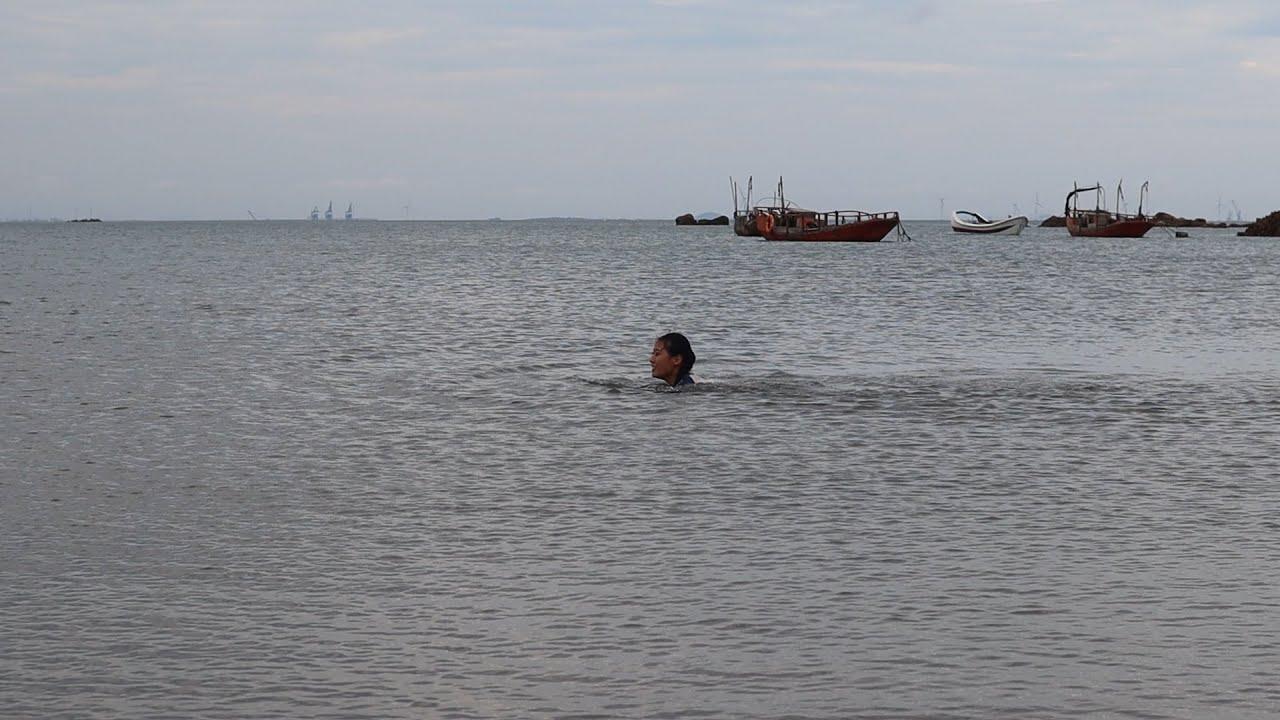 今天赶海天气太适合游泳了,没忍住和弟弟跑下去了,游泳一定要安全第一