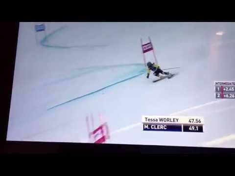 Mia Clerc Ski GS à la Coupe du Monde de Lenzerheide 2018