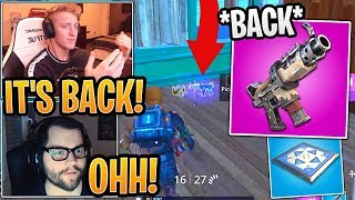 Streamers React to Tac SMG and Bouncers BACK in Fortnite! (Classic LTM) - Fortnite Moments