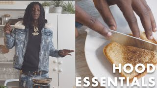 Grilled Cheese Bologna Sandwich | Hood Essentials with OMB Peezy
