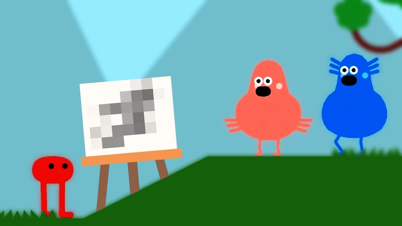 Why Games Shouldn't Let Me Draw Stuff - Pikuniku (First Look Gameplay) - Let's Game It Out - YouTube