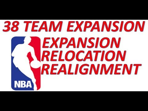 38 Team NBA Expansion Relocation and Realignment Proposal