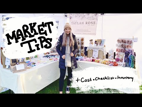 CRAFT FAIR WHAT YOU NEED TO KNOW || MARKET STALL TIPS || what i bring || vendor, farmers, artisan