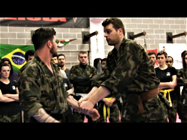KRAV MAGA TRAINING • How to escape when a BIG Guy grabs you (part 3)