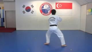 Black Tip Belt Pattern by Hyun TKD Academy
