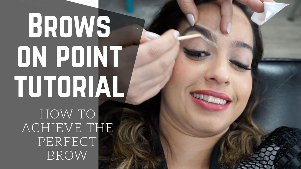 Brow Shaping By The Best Beauty Girls Brow Bar Youtube