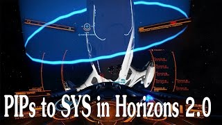 Elite: Dangerous. Shield strength in PIPs to SYS relation. Horizons 2.0