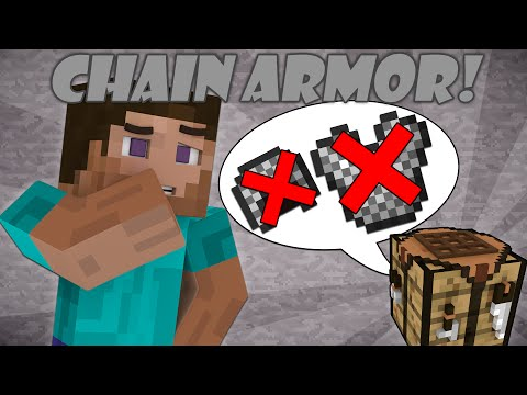 Why You Can't Craft Chain Armor - Minecraft