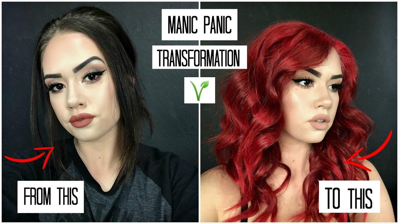 manic panic transformation black