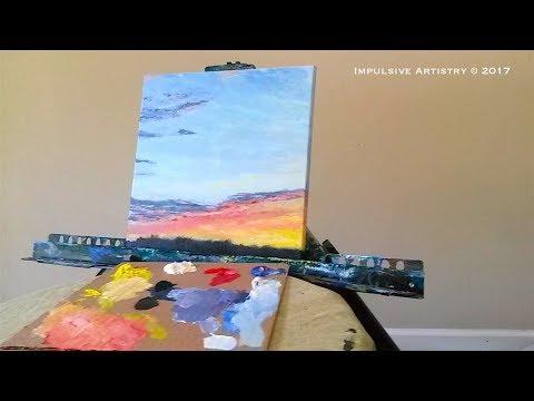 Pastel Sunset – Timelapse – Acrylic Painting Lesson
