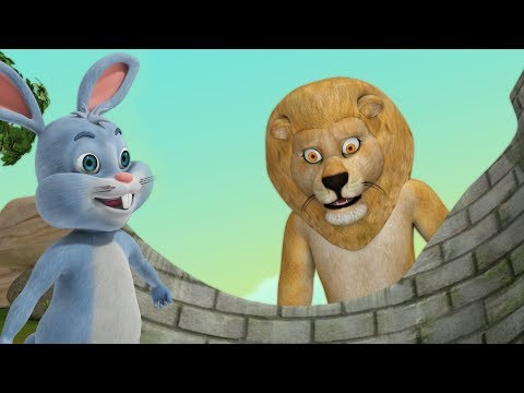 The Big Lion And The Little Rabbit Kathalu | Telugu Stories For Kids | Infobells