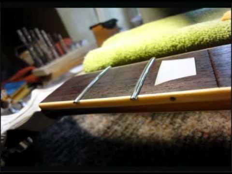 Замена Ладов грифа гитары