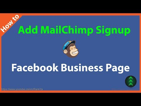 How to Add MailChimp Signup to Facebook Business Page