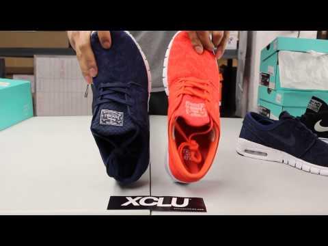 "Nike SB Stefan Janoski Max ""Midnight Navy"" & ""Light Crimson"" Unboxing Video At Exclucity"