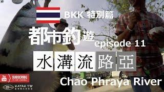 【水溝流路亞-11 BKK特別篇】泰國曼谷釣噴水魚- Bangkok City FishingChao Phraya River Fishing  Asia